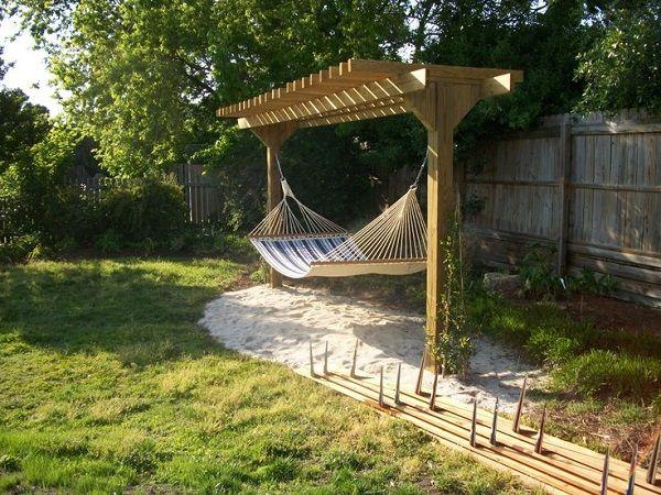 5 Hammock Ideas For Outdoor Leisure Diy Backyard Backyard Pergola Backyard Hammock