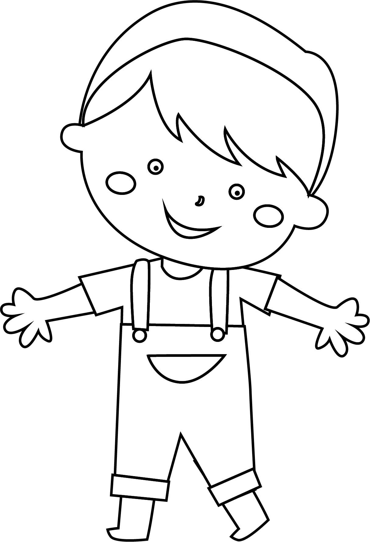 Awesome Sweet Child Boy Coloring Page Coloring Pages For Boys Coloring Pages Cartoon Kids