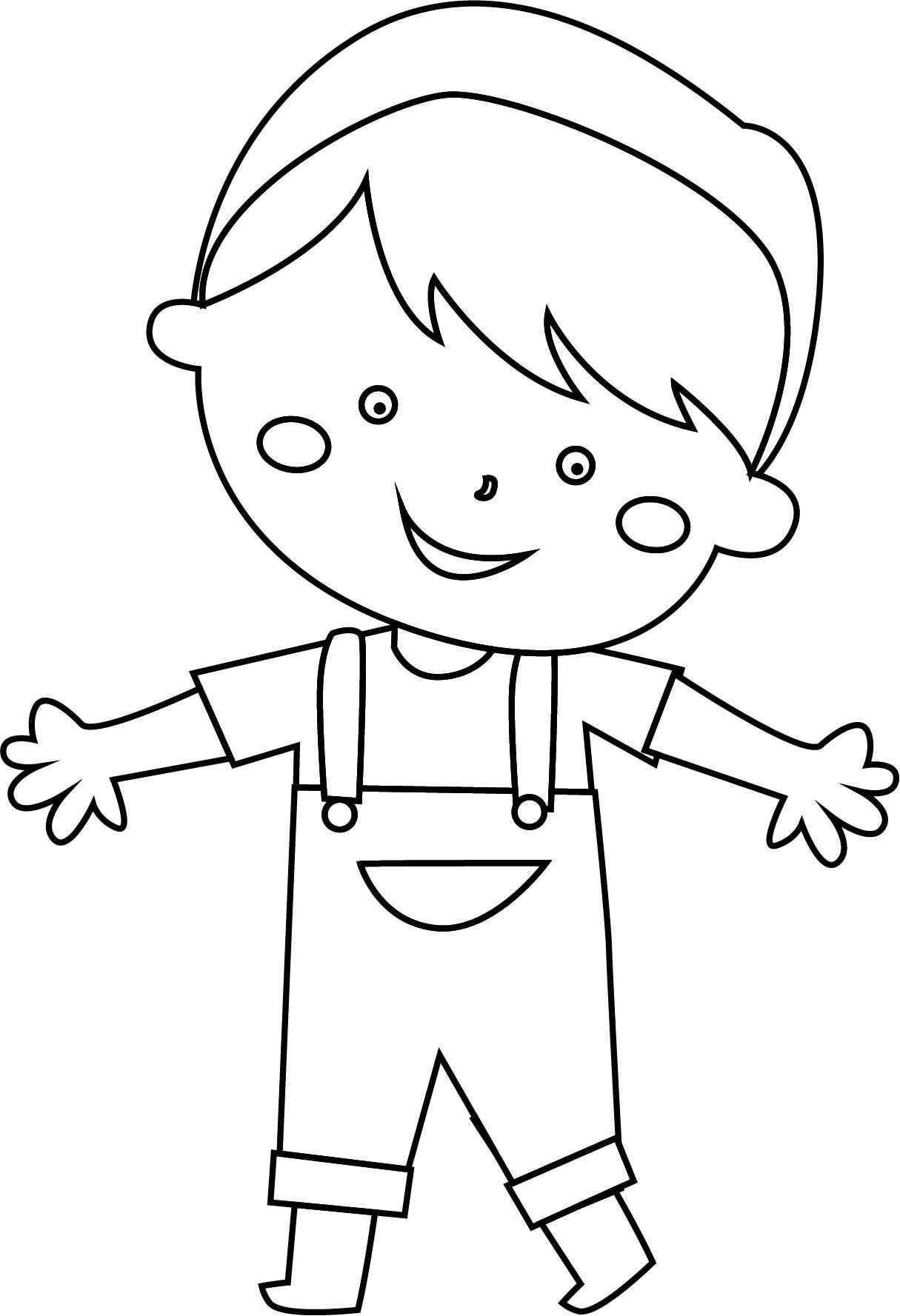 Awesome Sweet Child Boy Coloring Page Ideias Para Artesanato Artesanato Desenhos