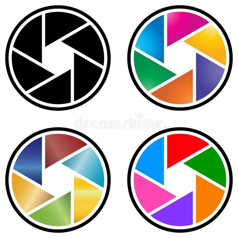 Logotipo De La Lente De Camara De La Fotografia Con Diseno Colorido Libre Illustration Camara De Fotos Dibujo Disenos De Unas Lente Camara