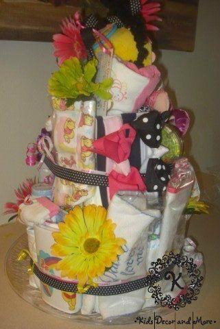 diaper cake girl baby shower gift custom