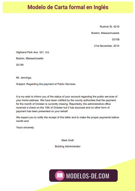 Descubre El Mejor Modelo De Carta Formal En Inglés Para Descargar Gratis En Word Y Una Guía Para Redactar E Modelo De Carta Formal Carta Formal Modelo Carta