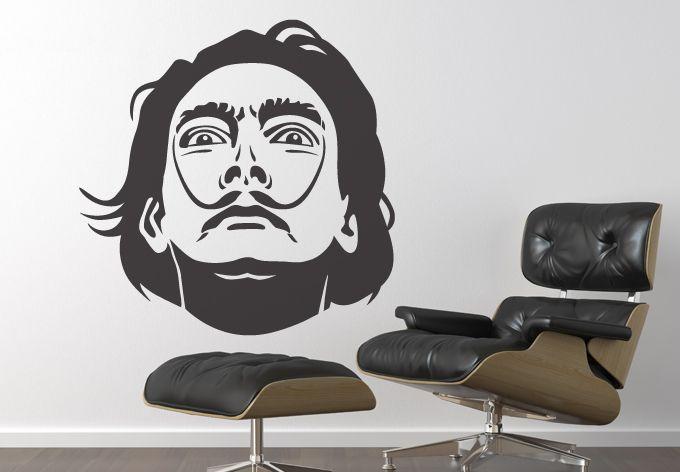 Salvador Dali Wall Decal Vinyl Art Sticker Wall Art Art Decor