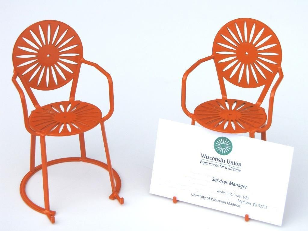 terrace chair card holder | Wisconsin | Pinterest | Business card ...