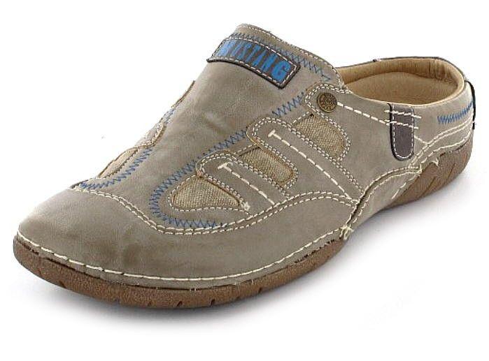 Details Zu Mustang Herren Schuh Pantolette Clogs Beige Neu 40 45