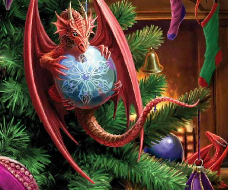 Картинки нового года дракон