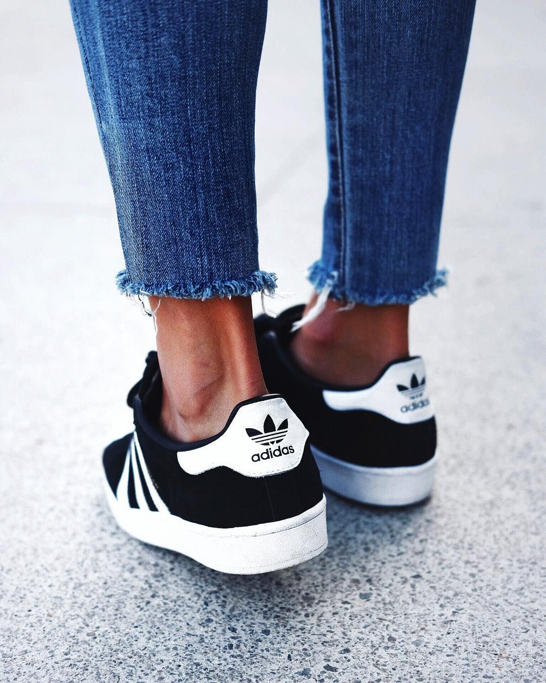 Raw hems and fresh adidas