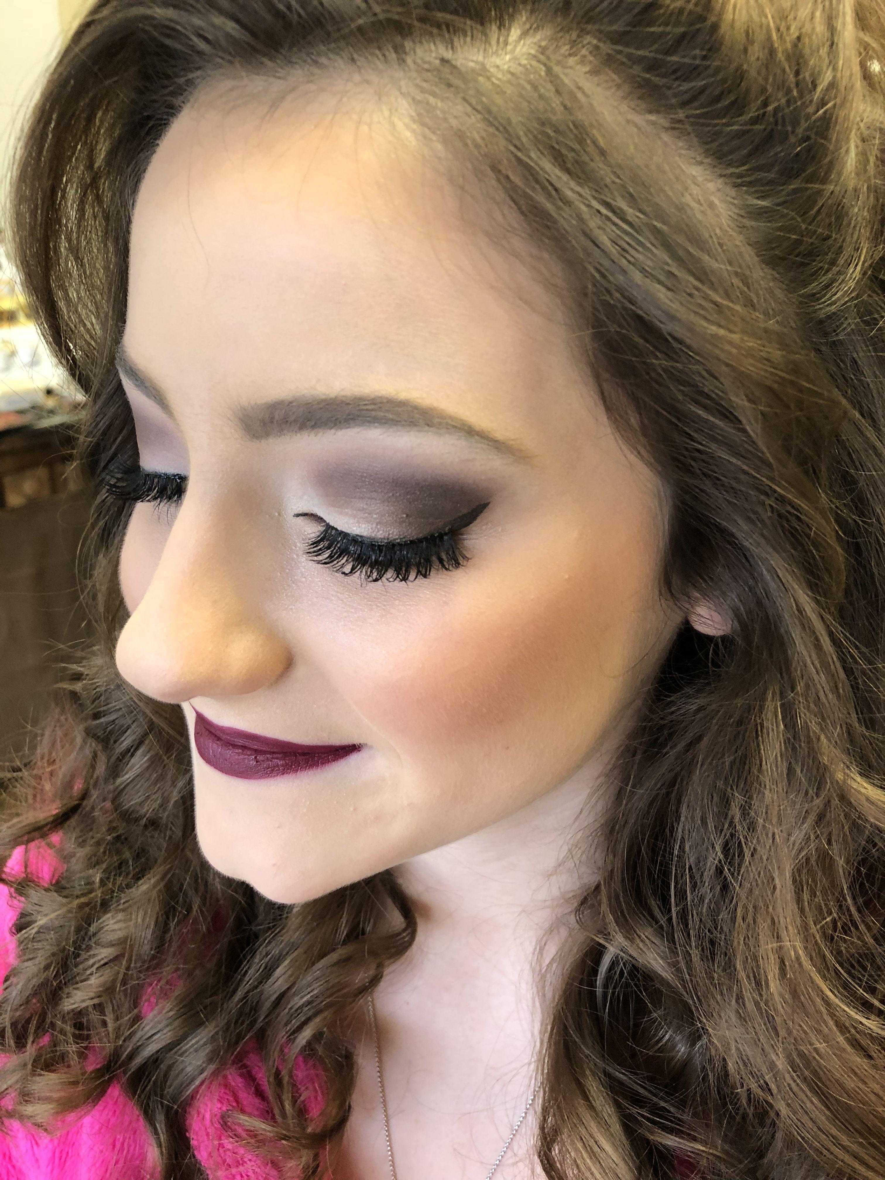 Prom Makeup Done With Bareminerals Makeup Smokey Eye Plum Lip