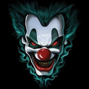 Freak show evil clown face t-shirt all sizes & colors ...