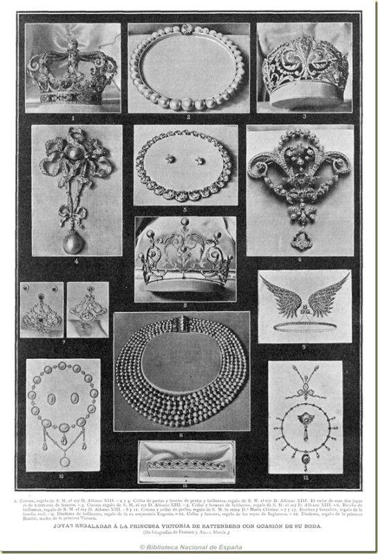 regalos de boda de la reina victoria eugenia | joyas casa real espaÑola