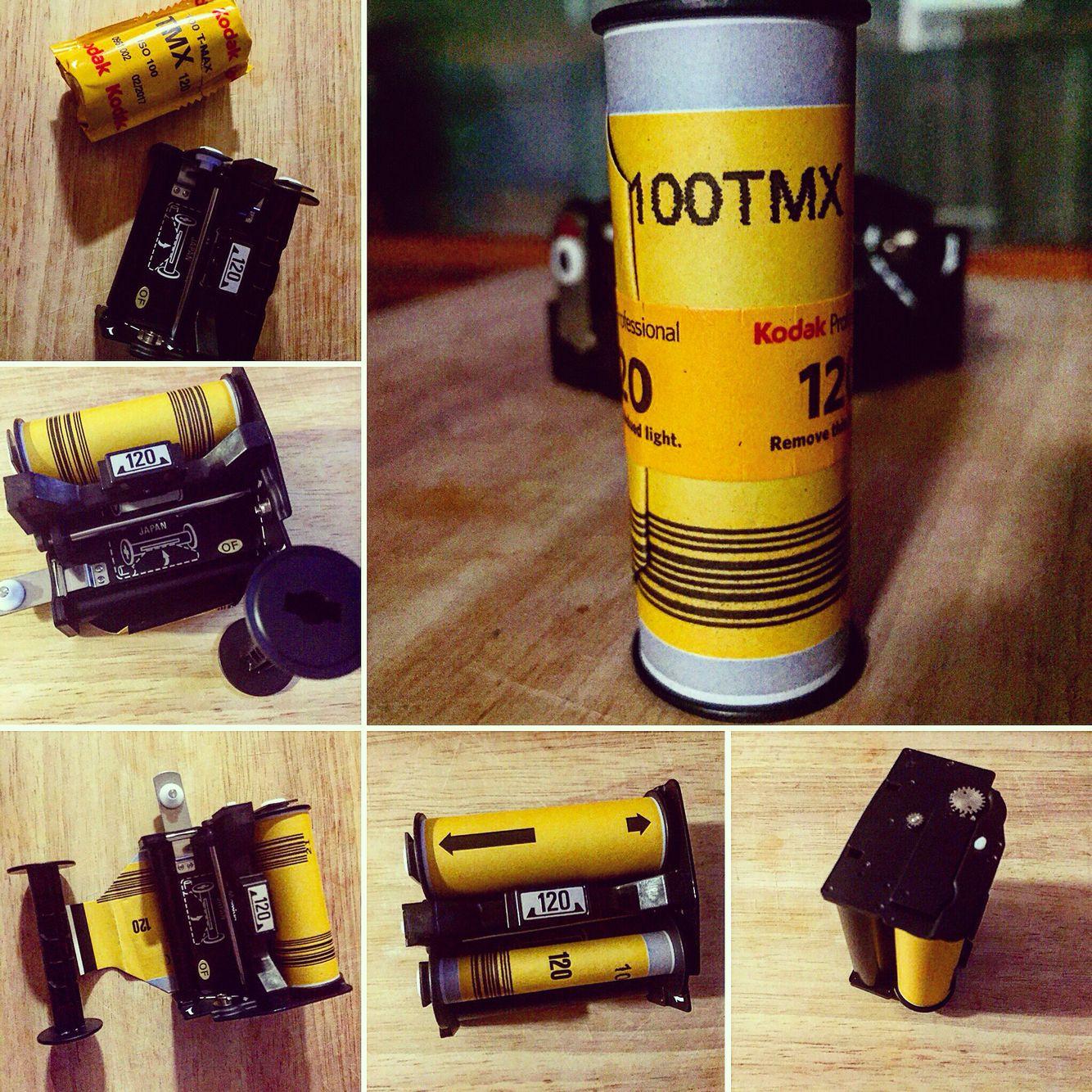 Loading Kodak TMX 120 film   Photography   Film photography tips