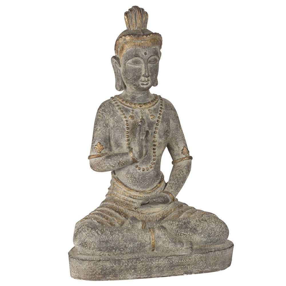 statue bouddha en ciment h70 d co maison pinterest statue bouddha statue et bouddha. Black Bedroom Furniture Sets. Home Design Ideas