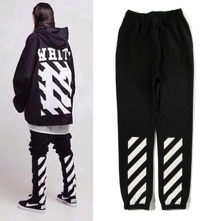37601566 Unisex Cotton PYREX Off White C/O Virgil Abloh Casual Gym Sport Pants Pant # OFFWHITE #LongPants