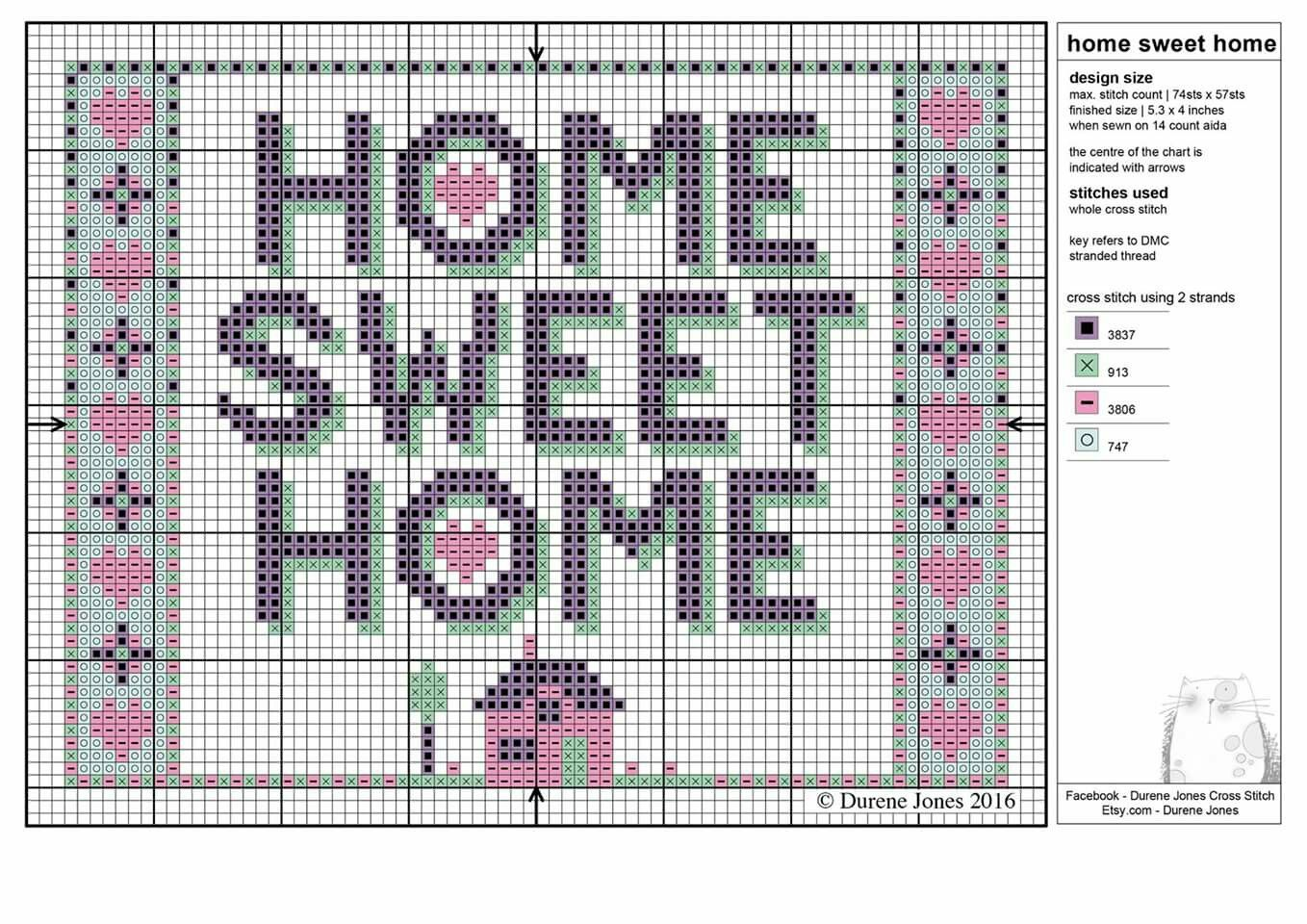Durene Jones free chart | Cross Stitch and Needlework