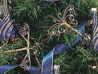 mariposas para el arbol de navidad adorno navideo