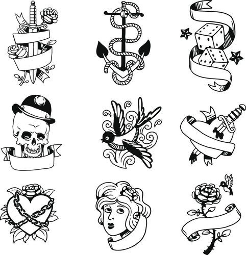 50+ tolle Vorlagen für dein Old-School-Tattoo | desired.de