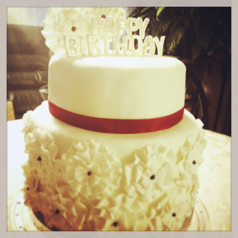 Birthday cake!!! Vanilla, chocolate cake with Italian buttercream ...