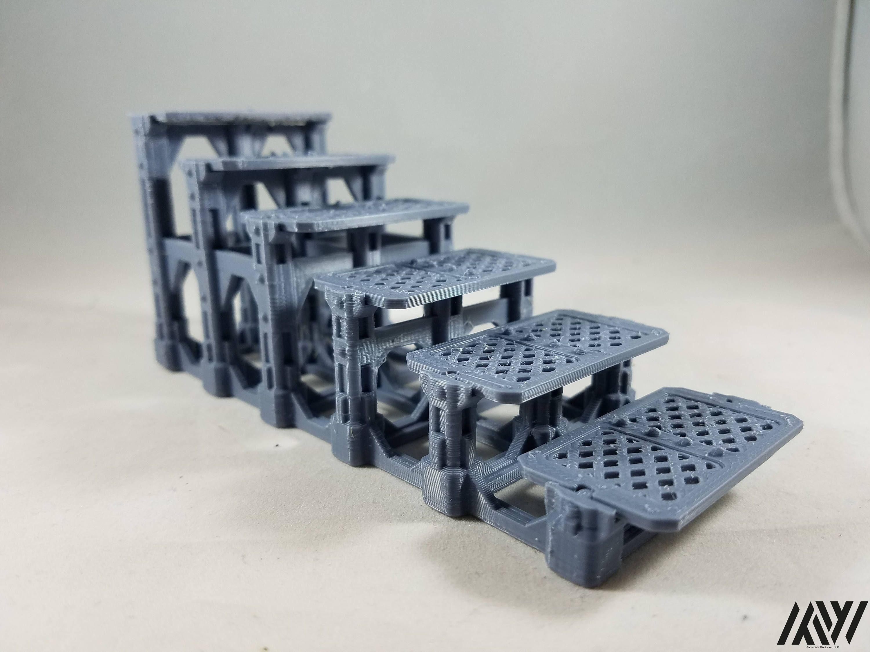 Barricade Steps Sci Fi Etsy Warhammer Terrain Spaceship Interior Sci Fi