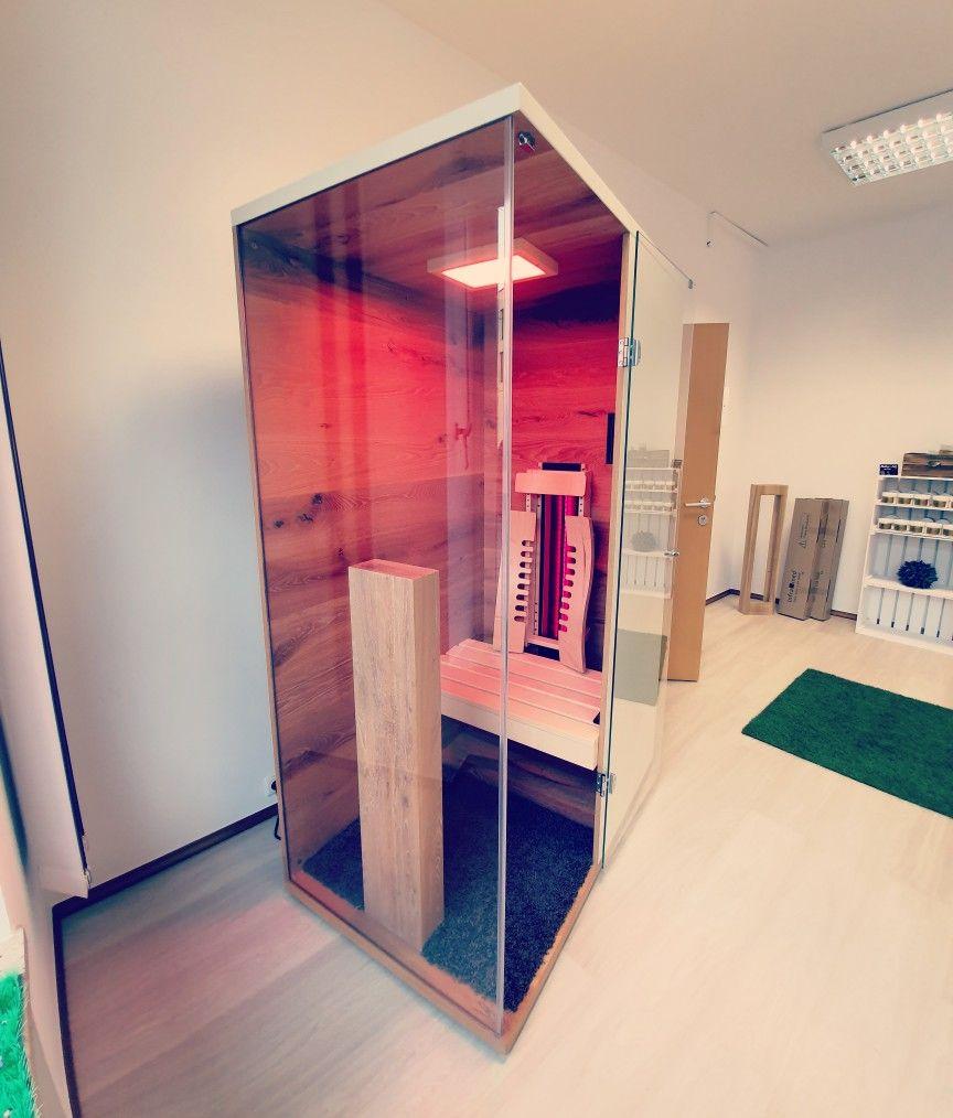 Kleine Infrarotkabine Fur Eine Person Mit Vollspektrumstrahler Infrarotkabine Kabine Badezimmer