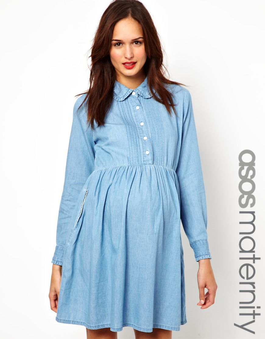 52 blue denim skater dress asos maternity denim smock shirt 52 blue denim skater dress asos maternity denim smock shirt dress sold by ombrellifo Image collections