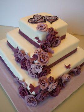 wedding cake hochzeitstorte cake cube konz niedermennig purple lila rosen trier. Black Bedroom Furniture Sets. Home Design Ideas