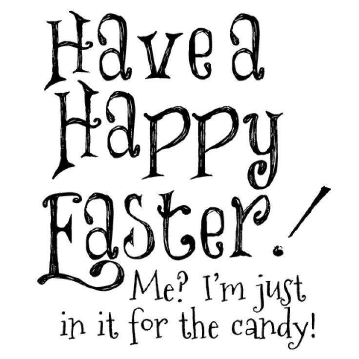 """Gourmet Rubber Stamps 2.75""""x4.75"""" - Have A Happy Easter"""