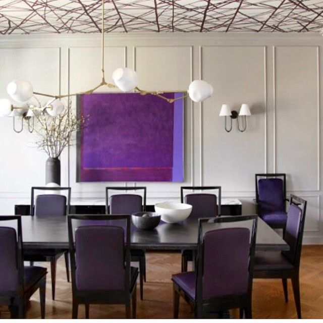 Best ideas for modern interiors design  picture description purple pop dining room with gioponti and lindsey adelman objects interior designed by also rh pinterest