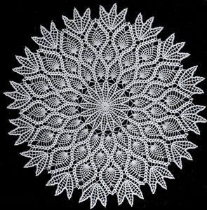 pattern vintage crochet doily