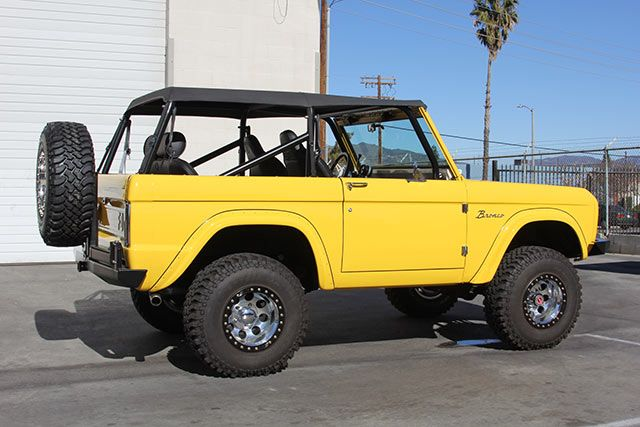 Bright Yellow Ford Bronco Ford Bronco Classic Ford Broncos Bronco