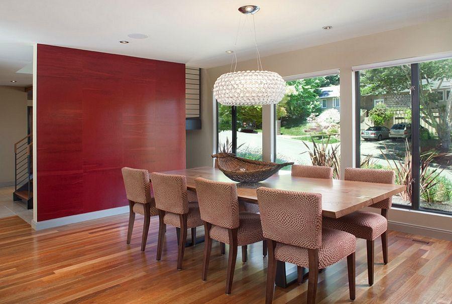 Pinitamara Coelho On Furniture  Pinterest  Wallpaper Ideas Fair Red Wall Dining Room Decorating Inspiration