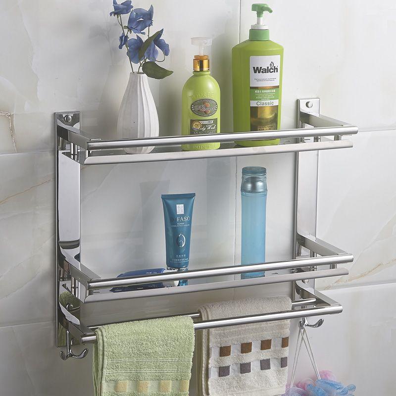 buy mttuzk diy bathroom shelves 304 stainless steel double layer rh pinterest com buy bathroom shelves online india cheap bathroom shelves uk