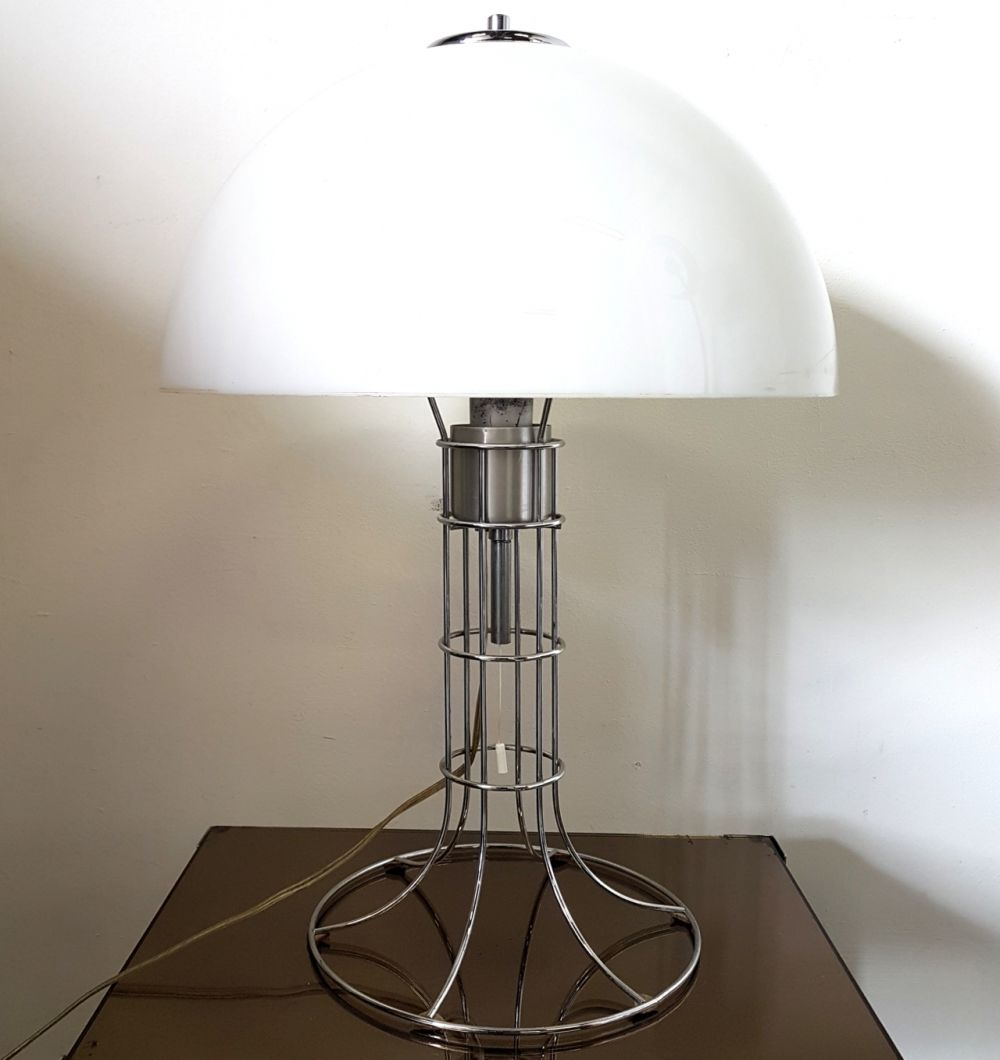 For Sale Space Age Chrome Plastic Table Lamp By Herda Netherlands 1970s Table Lamp Plastic Tables Lamp