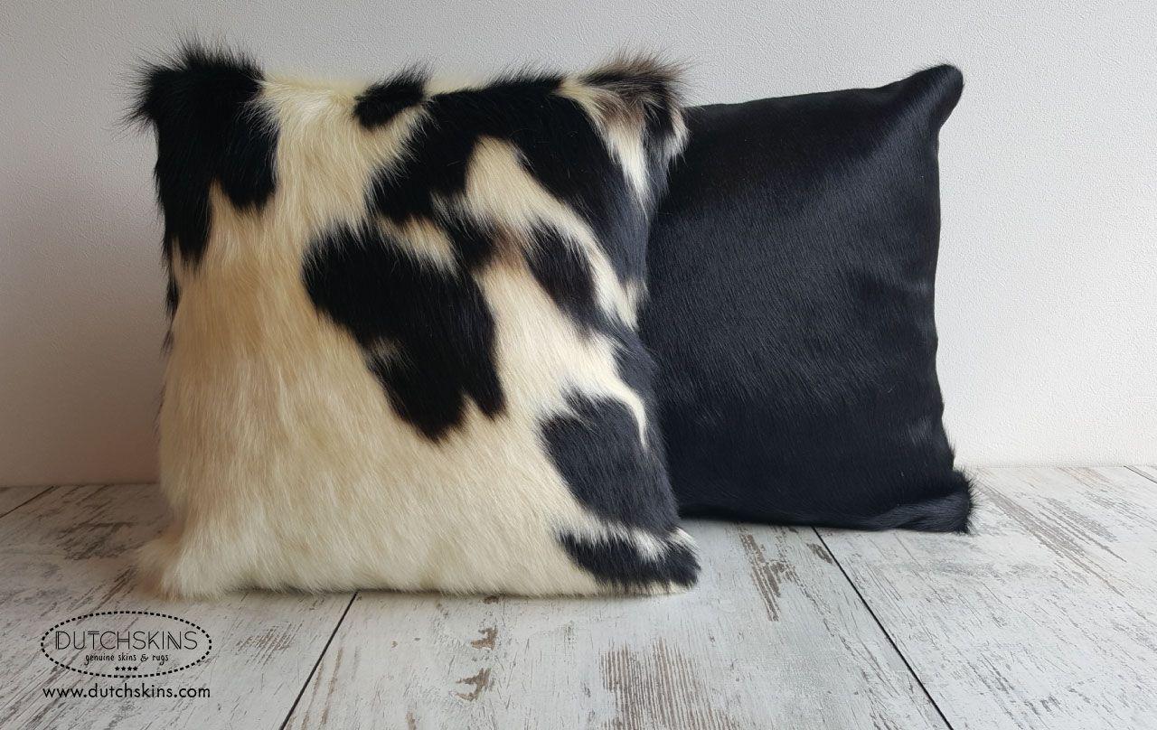 Zwart wit koeienhuid kussen kussens tapijten huiden
