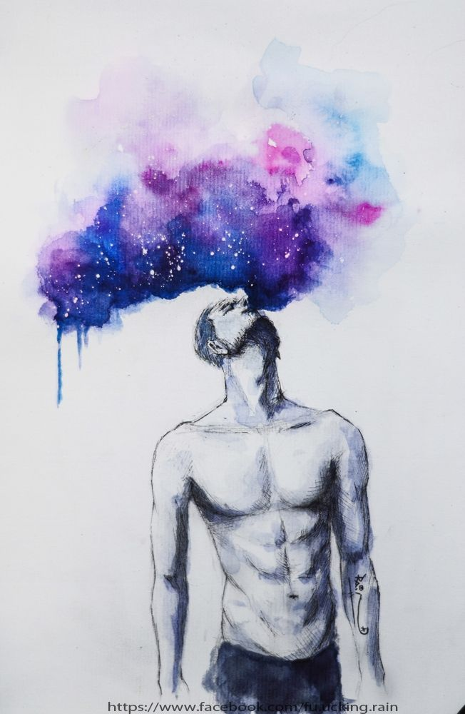 watercolor galaxy b t kim painting drawing pencil