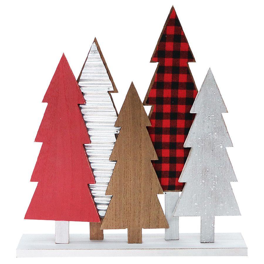 Be jolly tabletop wood tree decor walgreens tree decor