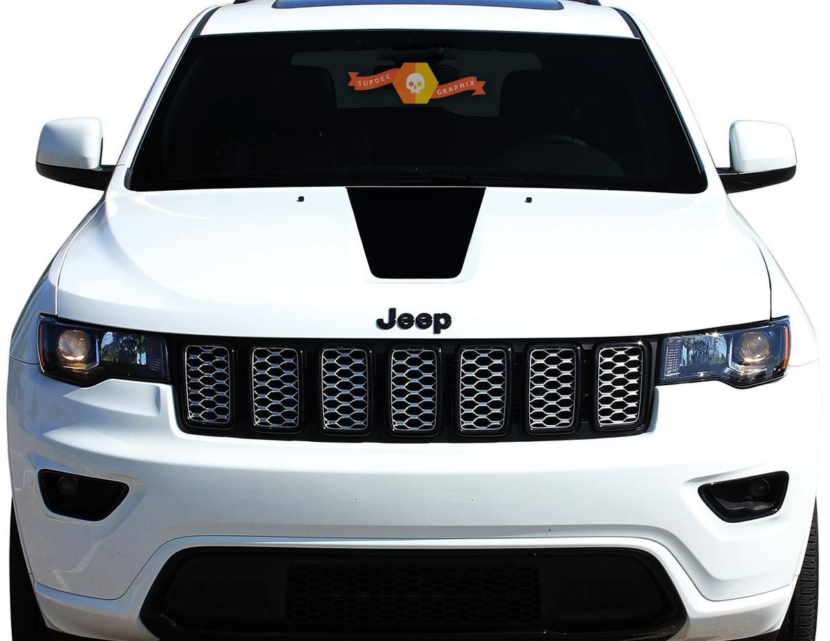 2011 2018 Jeep Grand Cherokee Front Hood Graphic Decal Blackout