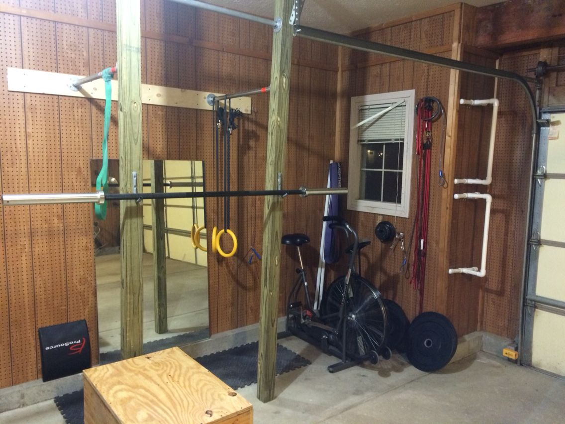 DIY power rack and pull up bars: (3) 4x4x10, 6 floor flanges, (3) 3
