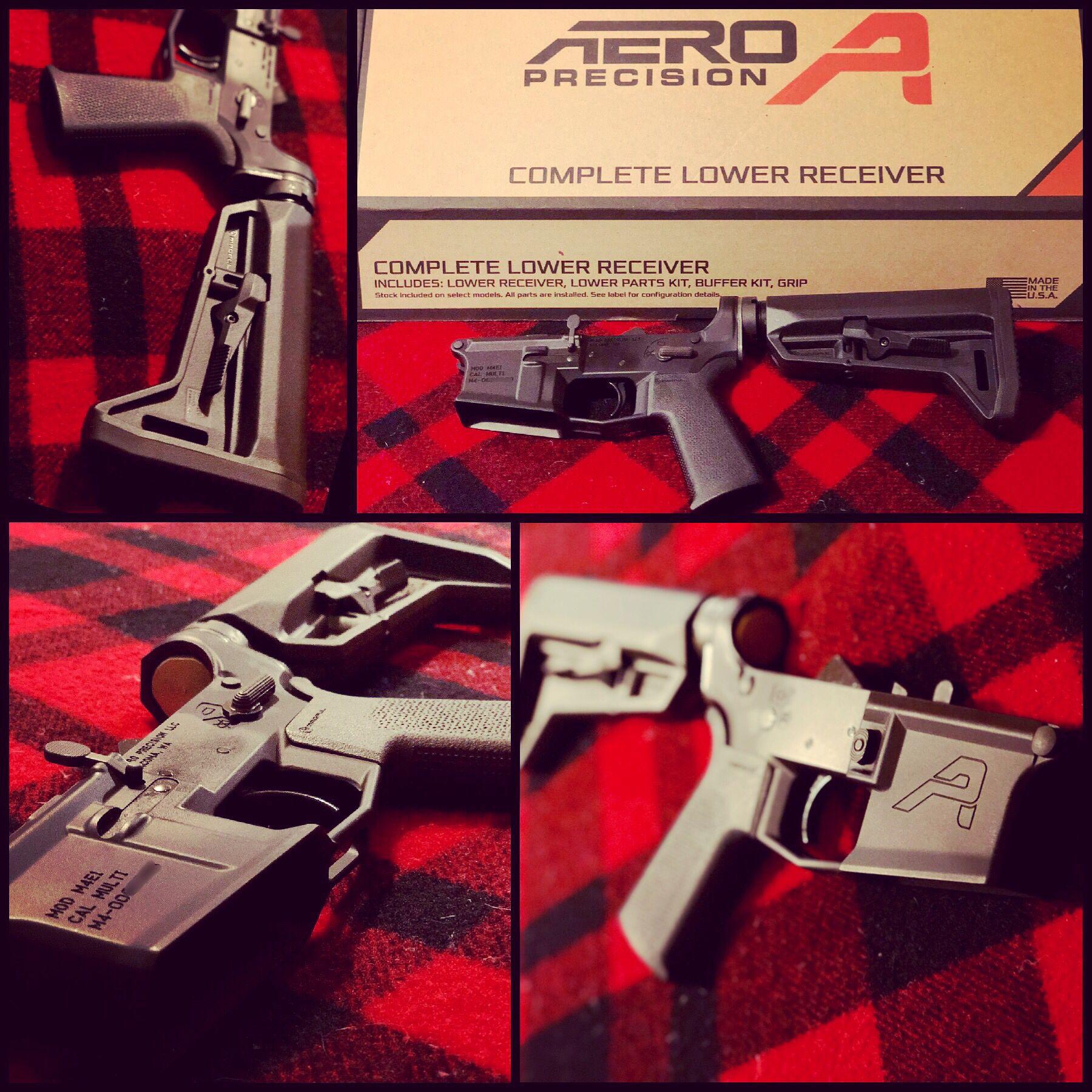 Aero precision m4e1 complete lower receiver w/moe sl grip