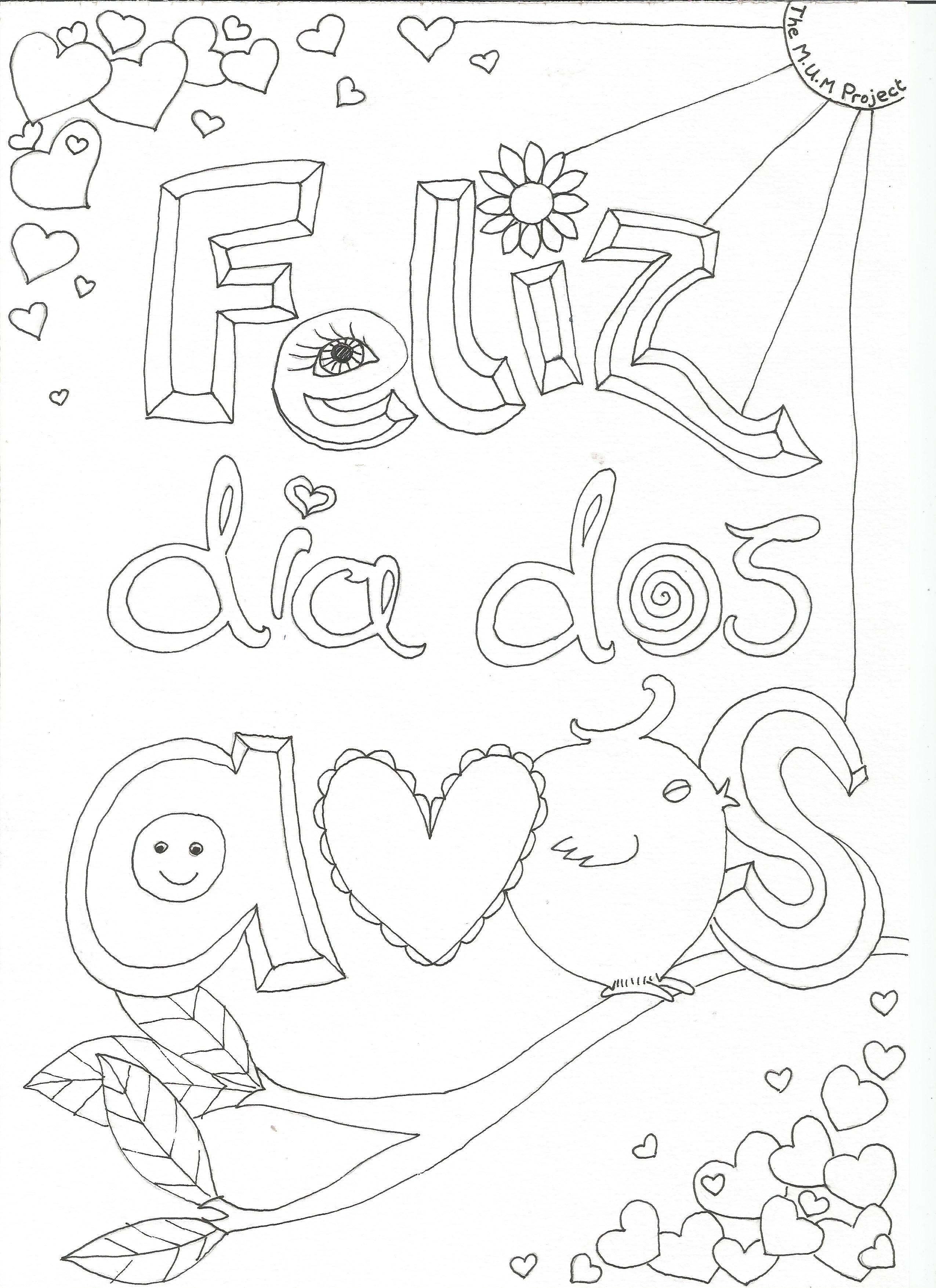 Novo Desenho Para Colorir Dia Dos Avos Atividades Para Dia Dos