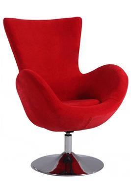 Modern Red Velvet Modern Swivel Arm Fun Chair Red Accent Chair