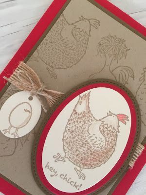 Stampin Up handmade card made with Hey, Chick stamp set