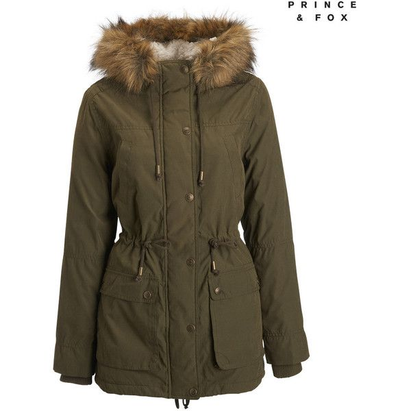 Aeropostale Prince & Fox Sherpa Lined Parka ($52) ❤ liked on Polyvore  featuring outerwear