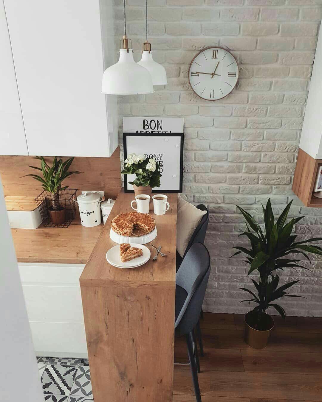Beleuchtung tisch   Modern dining table, Kitchen design small ...