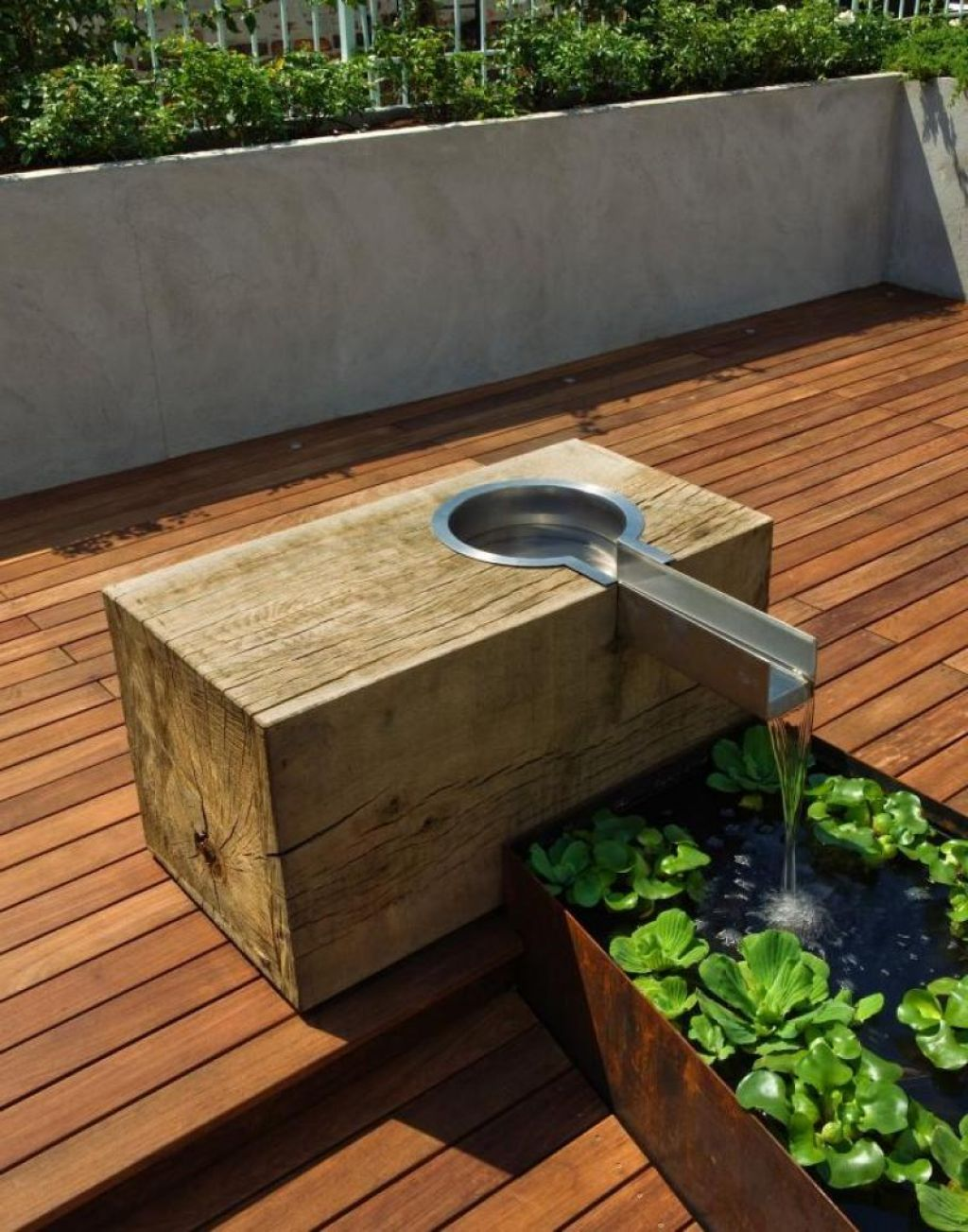 Outdoor , Cool and Unusual Backyard Deck Ideas : Deck ...