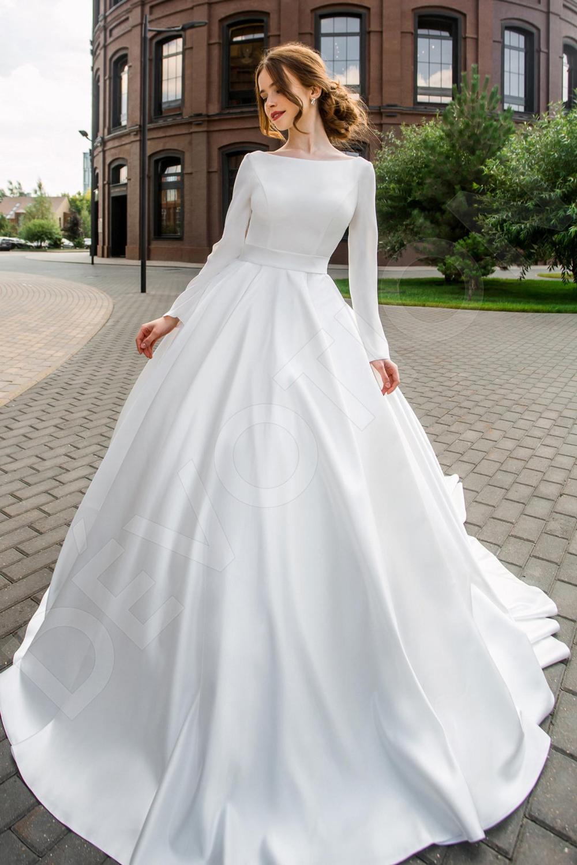 Individual Size Princess Ball Gown Silhouette Misae Wedding Etsy Princess Ball Gowns Ball Gowns Wedding Wedding Dress Long Sleeve [ 1500 x 1000 Pixel ]