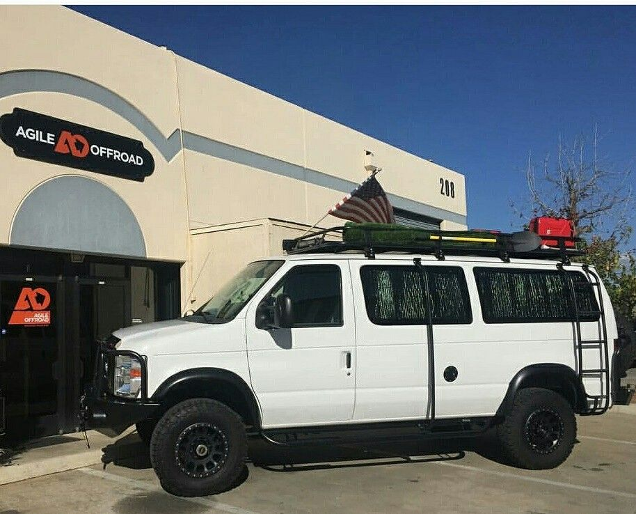 Agile Offroad Build With Aluminess Gear! Roof Rack, Ladder, Bumpers, Nerf  Bars · 4x4 VanCargo ...