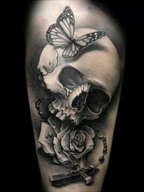 Very cool skull tatt...