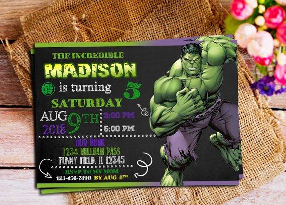 Hulk Invitation Hulk Birthday Hulk Birthday Invitation Hulk Party Hulk Invitation For Boy Hulk I Hulk Birthday Hulk Party No Time For Me