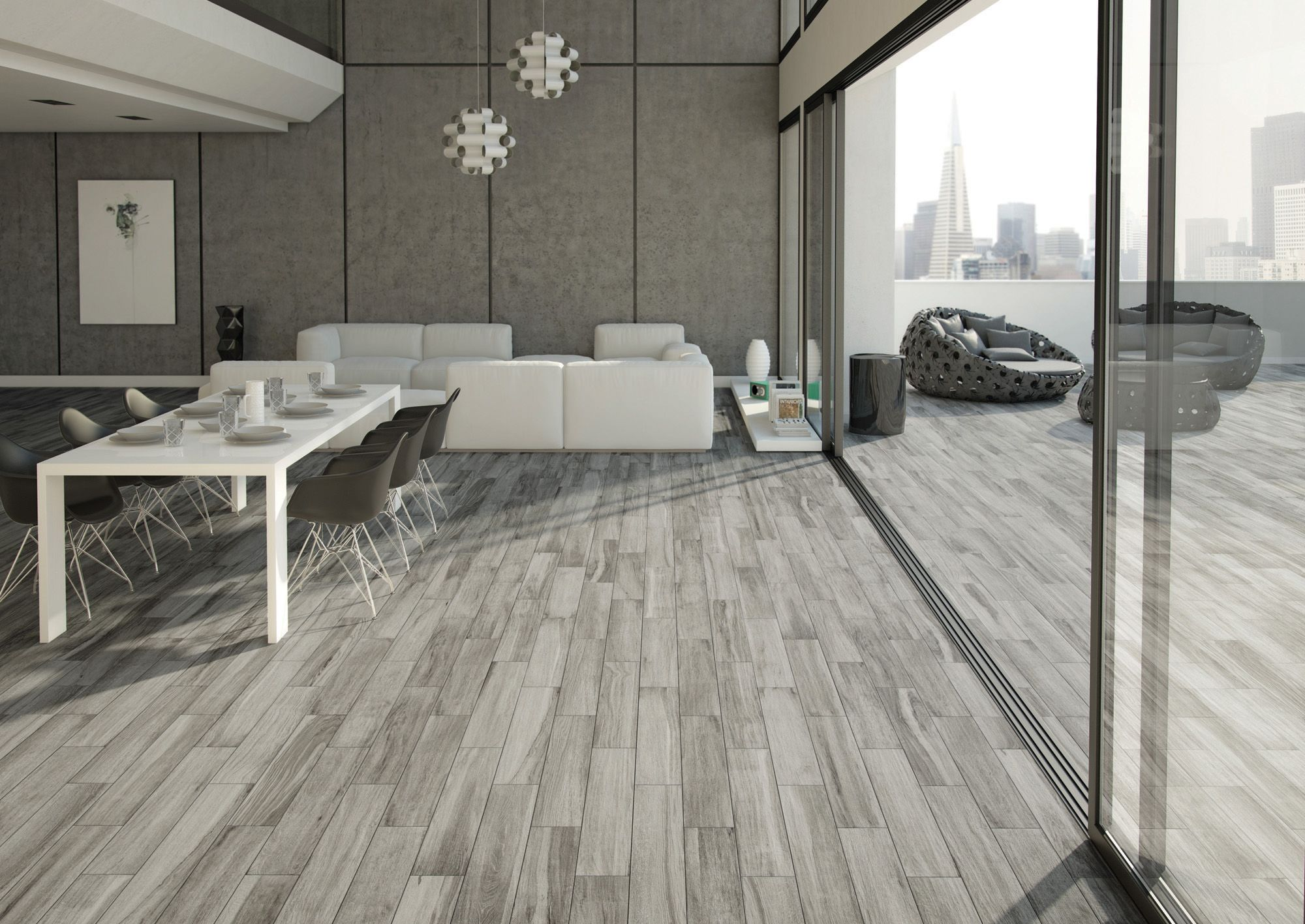 minoli tiles - da silva - grey wood look tiles extremely