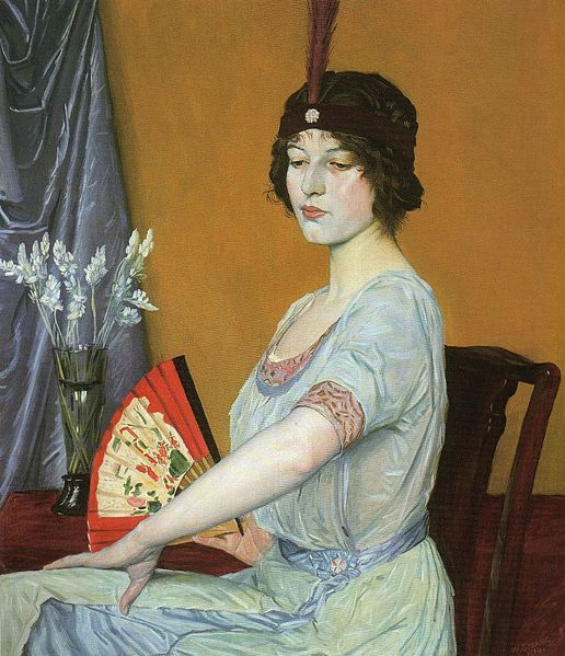 The Japanese Fan by William Strang (1859-1921)